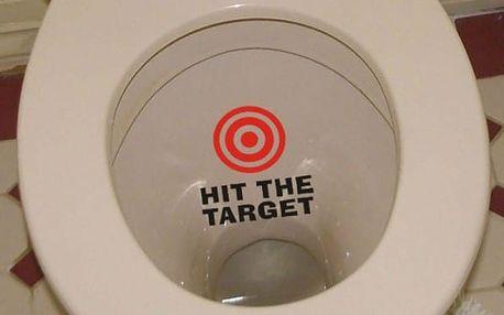 Samolepky na toaletu - varianta č. 2 - terč