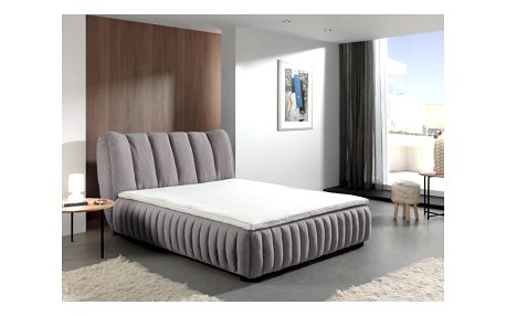 Šedá dvoulůžková postel Sinkro Michelle, 160x200cm - doprava zdarma!