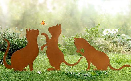 Zápich do zahrady kočky, 3 kusy