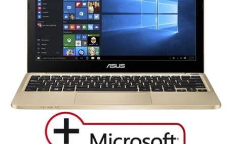 "Notebook Asus E200HA-FD0081TS (E200HA-FD0081TS) zlatý x5-Z8350, 4GB, 32GB, 11.6"", HD, bez mechaniky, Intel HD, BT, CAM, W10"