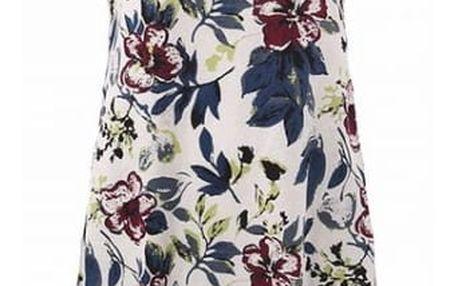 Letní šaty s květinovým vzorem - velikost číslo 8