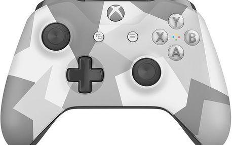 Microsoft Xbox ONE S Gamepad, bezdrátový, bílá/šedá kamufláž (Xbox ONE S) - WL3-00044