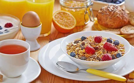 Zahajte den snídaní dle výběru s kávou či čajem