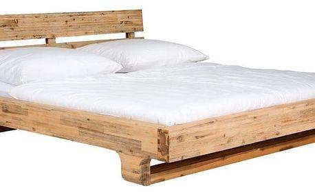 Postel z akáciového dřeva SOB Madrid, 180x200cm - doprava zdarma!