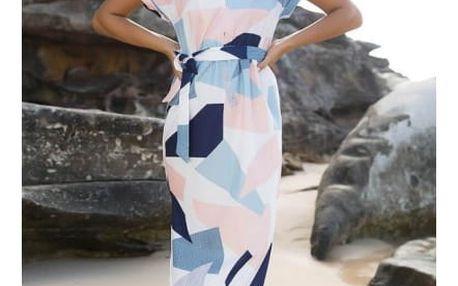 Delší dámské šaty s potiskem Trina