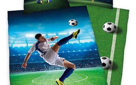 Herding Bavlněné povlečení Football, 140 x 200 cm, 70 x 90 cm