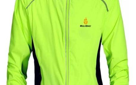 Pánská cyklistická bunda s reflexními prvky - Zelená, velikost 3