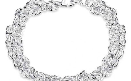 Propletený náramek ve stříbrné barvě
