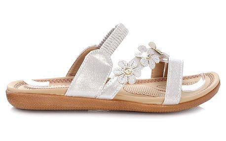 Dámské stříbrné pantofle HR61109B.SI.G 40