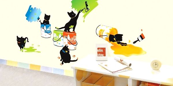 Samolepka Ambiance Cats and Paints