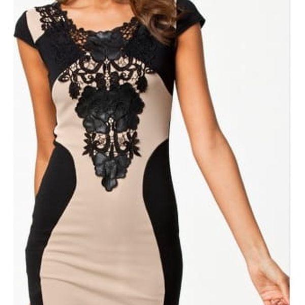 Elegantní šaty s krajkovou ozdobou