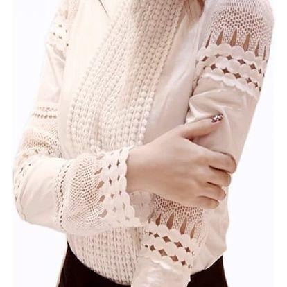 Dámská košile v bílé barvě - prodyšná - vel. 8