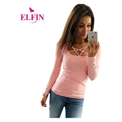 Dámské tričko s moderním výstřihem - růžové, vel. 3