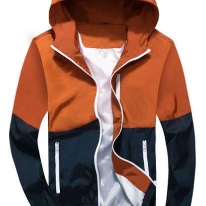 Pánská jarní bunda v oranžové barvě, vel. 2