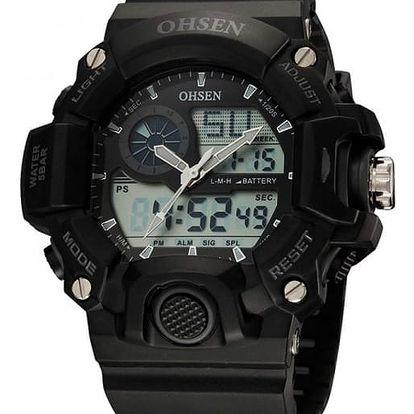 Náramkové hodinky pro muže v černé barvě