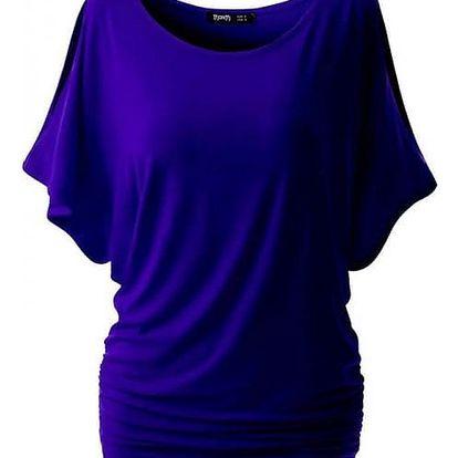 Dámské triko s otvory na ramenou v modré barvě, vel. 5