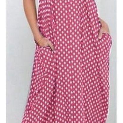 Letní šaty dlouhé - růžové - velikost 4