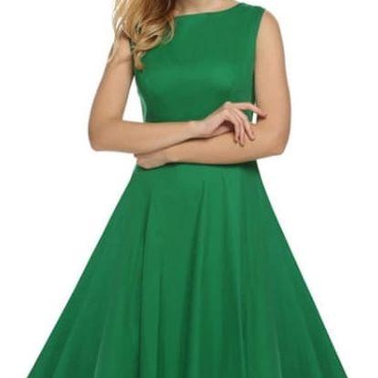 Letní šaty ve swingovém stylu - zelené 3 - č. velikosti 3
