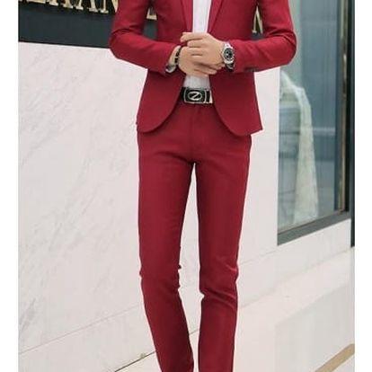 Pánský oblek - červený, vel. 5