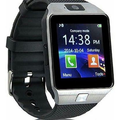 Chytré bluetooth hodinky pro Android smartphony s kamerou - Černá