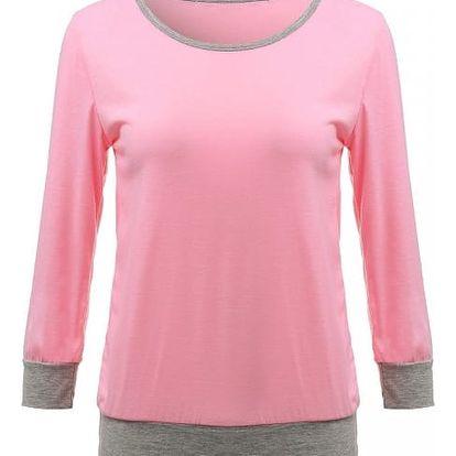 Tričko se spadlým rukávem - růžové, velikost 3 - dodání do 2 dnů