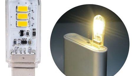 USB lampička v průhledném obalu