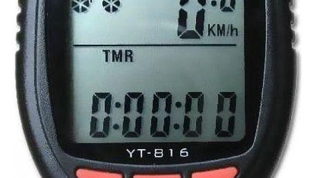 Cyklopočítač (tachometr na kolo) 17 funkcí YT-816