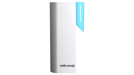 Whitenergy Power Bank 4000mAh 1A Li-Ion, bílá/modrá - 10117