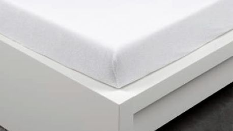 XPOSE ® Bambusové froté prostěradlo jednolůžko - bílá 90x200 cm