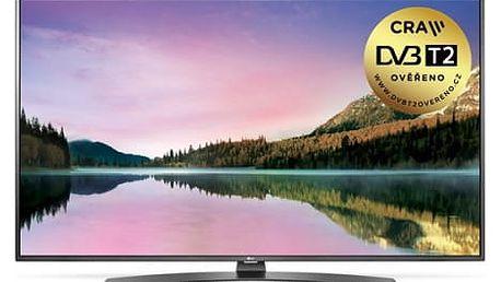 Televize LG 43UH661V stříbrná/titanium