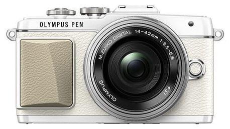 Digitální fotoaparát Olympus PEN E-PL7 + 14-42 Pancake Zoom stříbrný/bílý