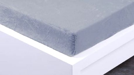 XPOSE ® Prostěradlo mikroflanel Exclusive dvoulůžko - světle šedá 140x200 cm