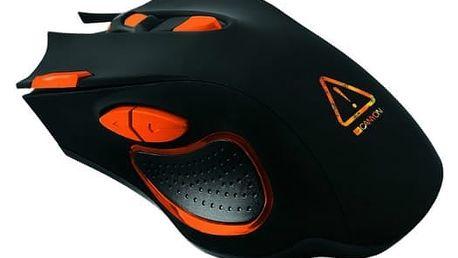 Myš Canyon Corax (CND-SGM5N) černá/oranžová