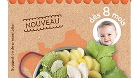 2x BABYBIO Příkrm Romanesco s farmářským kuřetem a parmezánem 200g - maso-zeleninový příkrm
