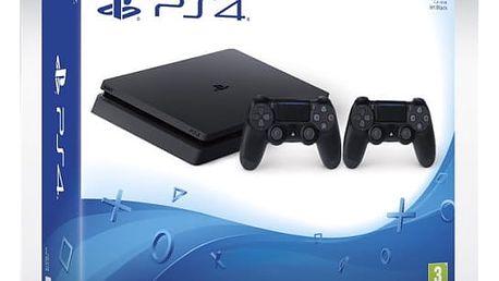 Herní konzole Sony SLIM 1TB + DualShock4 (PS719893653 ) černá