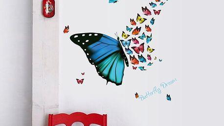 Koláž s motýlky 82 x 56 cm