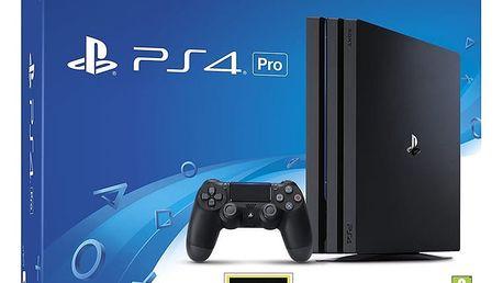 PlayStation 4 Pro, 1TB, černá - PS719887256 + Gamepad Sony DS4 V2, černý v ceně 1400 Kč