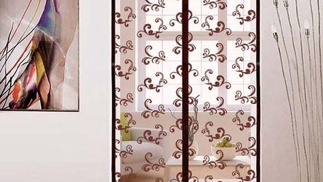 Magnetický závěs do dveří ve dvou velikostech - Hnědá - 100 cm x 210 cm