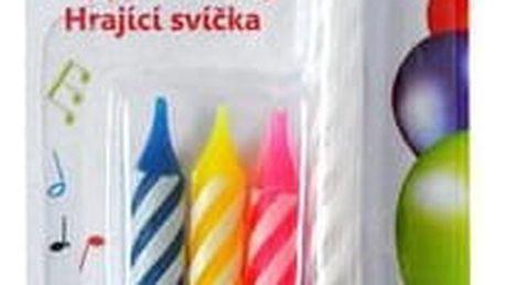 Zpívající narozeninová svíčka se čtyřmi svíčkami