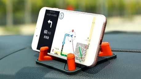 Protiskluzový držák telefonu na palubní desku - pyramida - Modrá