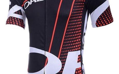 Pánské cyklistické tričko - Červeno černé - velikost č. 3