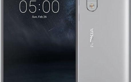 Nokia 5, Dual Sim, bílo/stříbrná