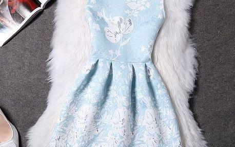 Elegantní šaty s originálními motivy - varianta 18, velikost 4