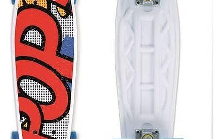 """Penny board Street Surfing Pop Board Popsi Yellow 21,6"""" x 6,1"""" bílý/červený/modrý/žlutý + Reflexní sada 2 SportTeam (pásek, přívěsek, samolepky) - zelené v hodnotě 58 Kč"""