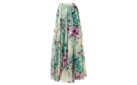 Dámská květinová maxi sukně - vel. 3 - dodání do 2 dnů