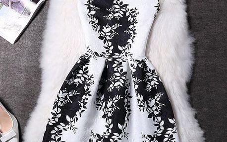 Elegantní šaty s originálními motivy - varianta 19, vel. 3