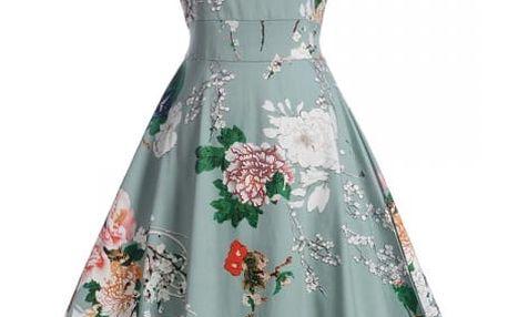 Květinové retro šaty z 50. let - Varianta 1, velikost 3
