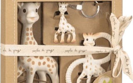 VULLI Trio žirafy Sophie - žirafa Sophie, kousátko a klíčenka