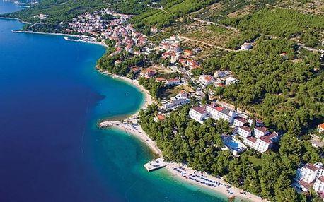 Chorvatsko - Baška Voda na 8 dní, polopenze nebo snídaně s dopravou vlastní