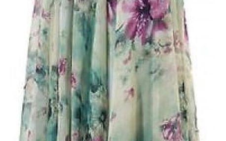 Dámská květinová maxi sukně - vel. 3